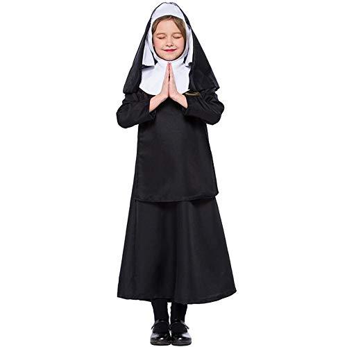 WSJKL Halloween Kinderen Cosplay Kostuums Nonnen Uniforms Jezus Christus Meisjes Kostuum School Kostuums Fancy Jurk voor Kinderen