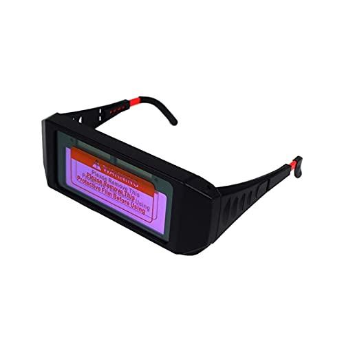 Gafas de soldadura fotoeléctrica automática con motor de soldadura con oscuridad con energía solar Darking Soldando Casco Ojo Gafas de soldadura de vidrio para proteger contra rayos ultraviole