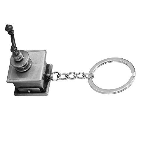 Kaffee manipulieren, Zink-Legierung Kaffee drücken manipulieren Schlüsselring Dekoration Mini Paar Schlüsselbund Anhänger(02)