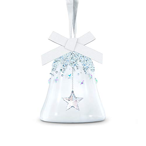 Swarovski Small Bell Ornament with Star, 2020 Limited Edition, Swarovski Crystal Christmas Tree and Home Ornament