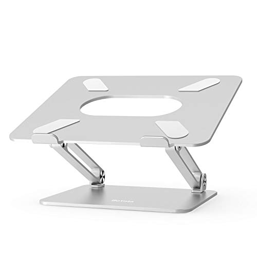 Boyata Laptop Stand, Adjustable Ergonomic Laptop Holder, AluminiumAlloy Notebook Stand Compatible for MacBook Pro/Air, Dell XPS, Lenovo, Samsung Laptops Up to 17 inches-Silver