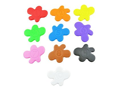 Replacement Parts for Smart Scan Chameleon - Fisher-Price Think & Learn Smart Color Chameleon ~ Replacement Targets ~ Set of 10 ~ Various Colors
