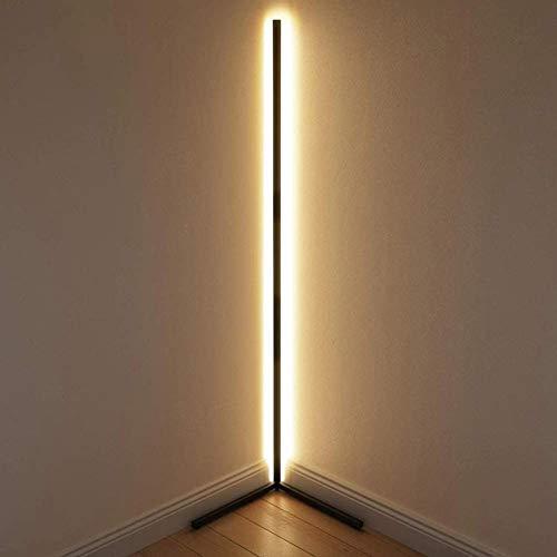 GDFGTH LED Lámparas De Pie para Salón Lámpara De Pie con El Control Remoto Luz Ajustable Lámpara De Suelo con Interruptor De Pie Decoración para Dormitorio Oficina,Negro