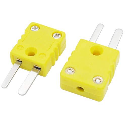 Taiss/2 Stück Mini Thermoelement Stecker, Gelb K-Type für Thermoelement, Temperatursensoren Plugs-Y