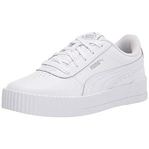 PUMA girls Carina Sneaker, Puma White-puma White-gray Violet, 4 Big Kid US
