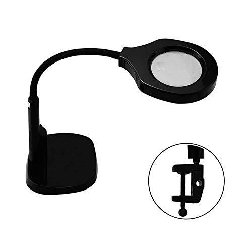 HJXSXHZ366 Led-bureauvergrootglas met klem, 12D 5D verlichte handen vrij slang standvergrootglas leeslamp licht voor handwerk hobbys