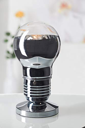 Brilliant 17347/15 Lampe à poser-chrome/transparent-metal/verre-E27, Métal/Verre, E27, 42 W