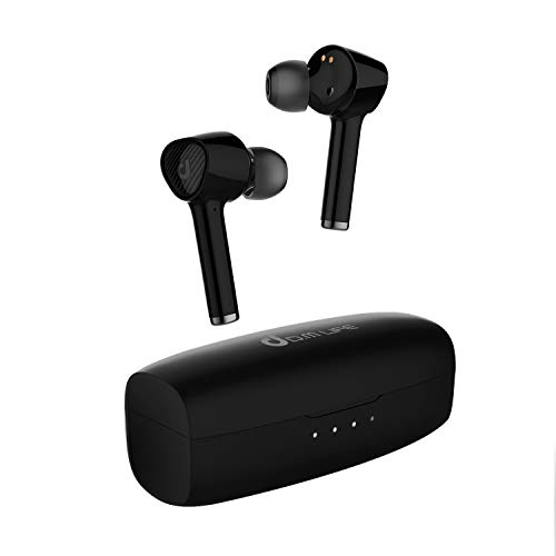 D.M Life Free Loop 1 True Wireless Earbuds With 4 MIC Environmental Noise Cancellation, IPX5 Waterproof, Touch Control, 32H Playtime, Bluetooth 5.1 TWS, AptX Audio, Wireless Headphones For Spots, Work