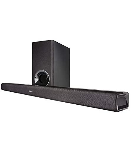 Denon DHTS-316BKE2 Soundbar mit Wireless Subwoofer (HDMI mit ARC, Opitcal, Bluetooth, Dolby und DTS Decoder) Schwarz