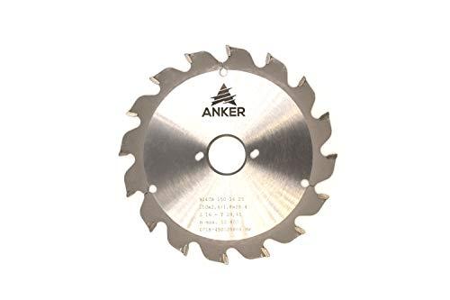 ANKER Spezial Hartmetall Holzkreissägeblatt Ø 150 x 25,4mm 16 Zähne | Zahnstellung Trapezzahn| Passend für Bepo FFS150/151S/151SE