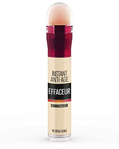 Maybelline New York - Anti-Cernes/Correcteur Fluide - Instant Anti-Age L'Effaceur - 115 Beige Doré - 6,8 ml