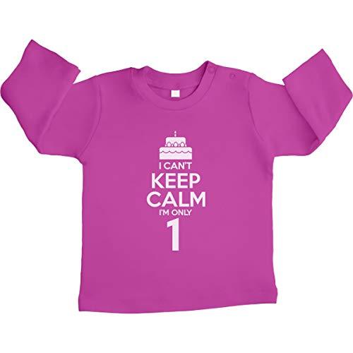 1. Verjaardag Can't Keep Calm I'm Only 1 Unisex baby shirt met lange mouwen maat 66-93