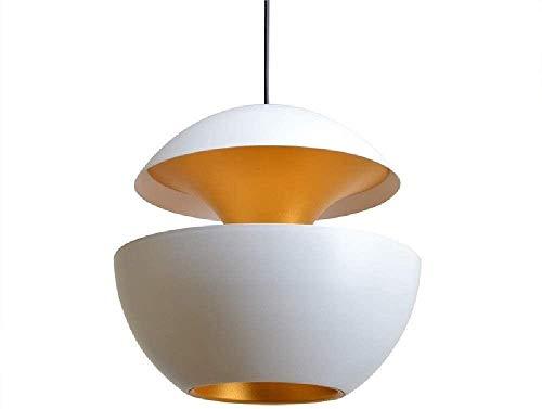 Colgante Luz de aluminio Lámpara Creativa Lámpara Metal Lámpara Interior Retro Luz de Colgante Luminaria para LOFT BAR Cafetería Restaurante E27 Whitevintage Colgante Luces Ajuste Instalación de techo