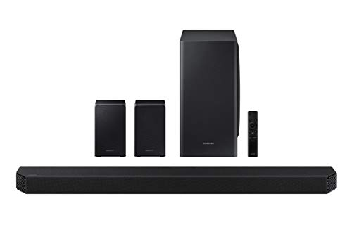 SAMSUNG HW-Q950T 9.1.4ch Soundbar with Dolby Atmos/DTS:X and Alexa Built-in (2020), Black