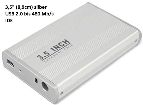 Externe USB Festplattengehäuse aus Metall 3,5