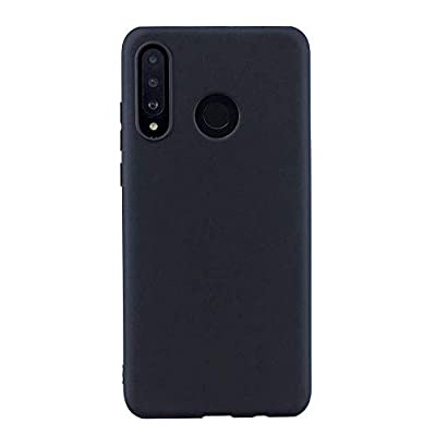 Fantasydao Compatible with Huawei P30 Lite Case Liquid Silicone Anti-Slip Rubber Shell Soft Microfiber Cloth Lining Cushion Gel Rubber Full Body Protection Shockproof Drop Cover(Black)