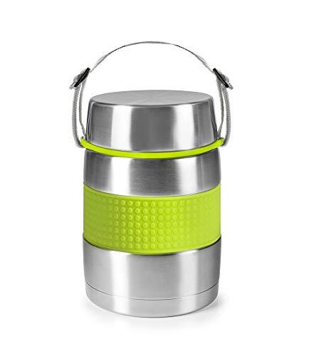 IBILI Termo para solidos - Acero Inoxidable con Silicona Antideslizante - Sin BPA - Capacidad 1200 ml