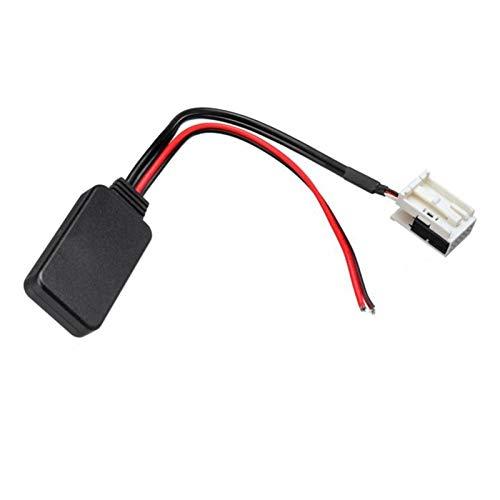CY-STOR Ajuste para Peugeot 207 307 407 308 FIT FOR para Citroen C2 C3 RD4 Coche 12pin Módulo Bluetooth Radio inalámbrico Estéreo AUX-IN AUX Cable Adaptador (Color Name : Black)