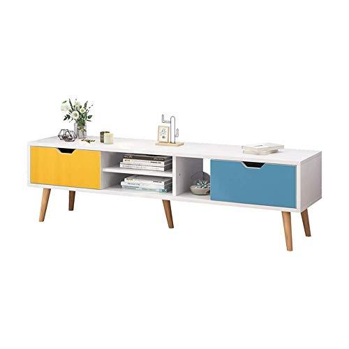 Szafka pod telewizor Szafka pod telewizor Konsola do przechowywania TV do salonu rekreacyjnego (kolor: biały, rozmiar: 140x43x30cm)