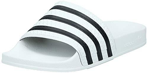 adidas Originals Adilette, Zapatos de Playa y Piscina Unisex Adulto, Blanco (White/Black/White), 43 EU