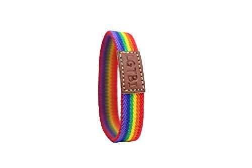 QUICKBOXX Pulsera Orgullo Gay Lesbiana LGTBI Bisexual Transexual Pride Tela Llamativa Elástica con Colores del Arco Iris Cómoda y Estilosa Unisex