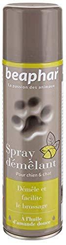 BEAPHAR – Spray démêlant pour chien et chat – À l'huile d'amande douce – Démêle et facilite le brossage – Redonne souplesse au poil – Sans rinçage – Pratique et facile à appliquer – 250 ml