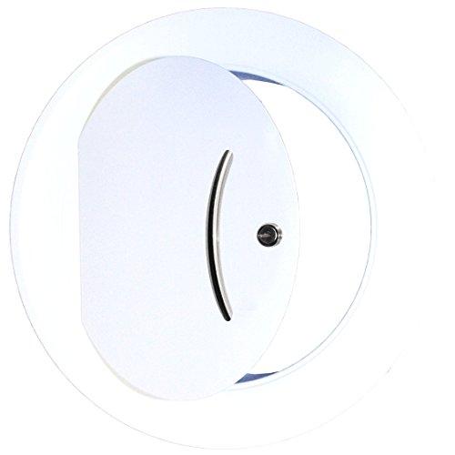 Wäscheschacht - Türe in metall weiß - für Rohr 250mm - Wäscheschacht