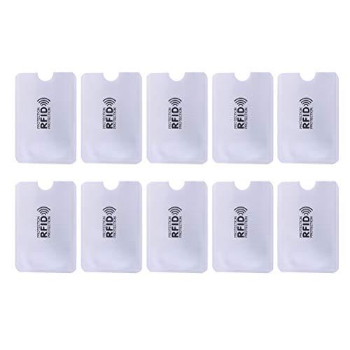 Lot de 10 manchons de protection RFID pour carte de crédit - Bloque le support d'identification MR - Protège contre le vol d'identification - 5 types