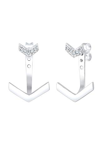 Elli Ohrringe Geo Ear Jacket Swarovski® Kristalle 925 Silber