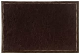 WIN-WARE Faux Leather Placemats / Dinnermats / Tablemats Colour: Brown. Dimensions: (300 x 200mm) (12 x 8) Pack quantity: 2.