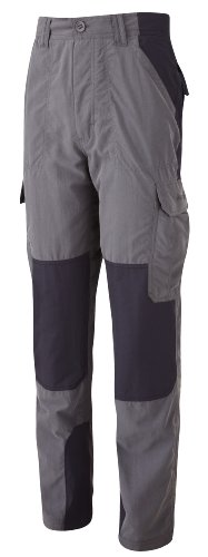 Craghoppers Bear Grylls Survivor - Pantalones de Senderismo para Hombre, tamaño 32, Color Negro Pimienta