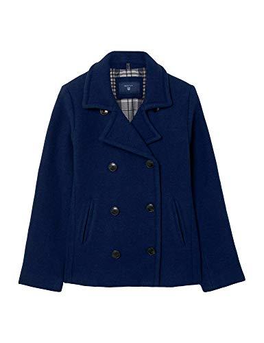 GANT Damen O1. Wool PEA Coat Mantel, Blau (Persian Blue), 40 (Herstellergröße: Large)