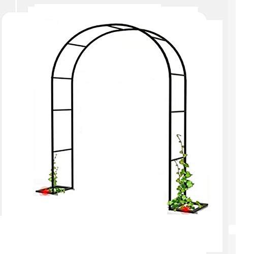 XDJ Arco De Jardin para Plantas Arco, Soporte para Trepadoras, Pérgola De Jardín, Decoración De Ceremonia De Fiesta De Arco De Boda, Rosales, Enredaderas, Metal, Resistente, Varios Tamaños, Negro