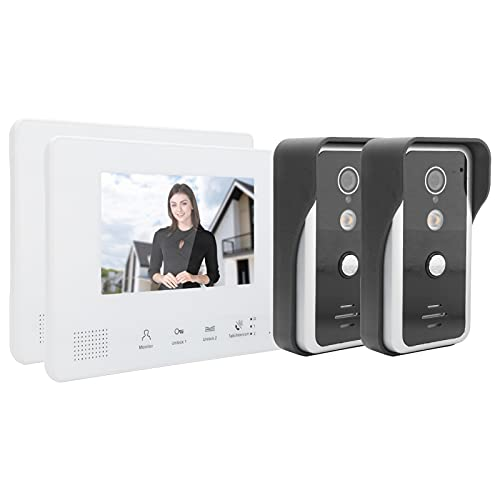 PUSOKEI Sistema de videoportero con Cable, intercomunicador bidireccional Manos Libres Timbre de...