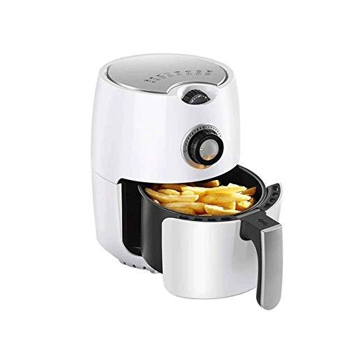 SMSOM Air Fryer, fornuis met temperatuurregeling, anti-stick fry-mand, receptgeleiding + automatische uitschakeling, 2,2 l, lucht met een laag vetgehalte, gezondheid frier, 1000 W