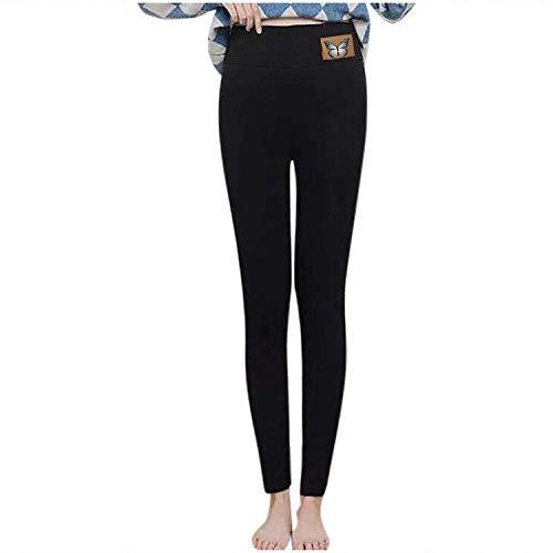 HAPPKING Damen Leggings Winter warme Freizeit schlanke Dehnbare Leggings Oversized Mädchen Lange Hosen (Farbe : Schwarz, Größe : XXL)