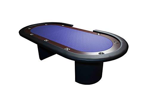 TDPOKER Mesa Tablero de Juego Poker Azúl 96″ Crupier