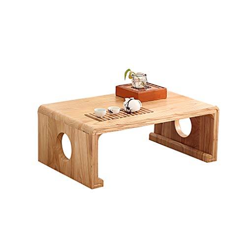 table basse nordique salon en bois massif simple tatami table rebord de la fenêtre table basse (Couleur : B, taille : 60cm*40cm*30cm)