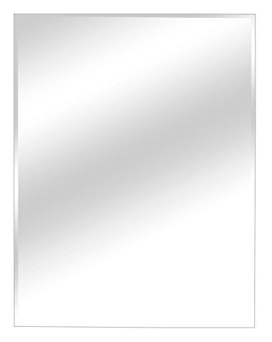 Facettenspiegel Wandspiegel Flurspiegel | B 45 x H 60 cm | Grau