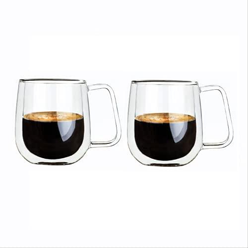 Paquete De 2 Cristalería para Cóctel, Cristal Transparente, Vasos De Whisky, Café Y Leche, Vaso con Base, Regalo para El Día del Padre, Regalo para Amantes del Whisky, Cuenco De Vino