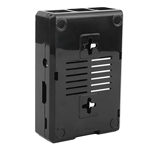 Soran Carcasa Protectora, Carcasa Esmerilada Duradera De Fácil Instalación De ABS con Tornillos para Raspberry Pi 3B 3B +(Negro)