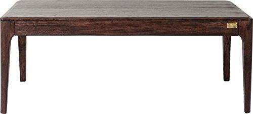 Kare salontafel Brooklyn walnoot, grote woonkamertafel voor het opbergen, lage eettafel voor de bank, grote, bruine bijzettafel van hout, (H/B/D) 45 x 115 x 60 cm