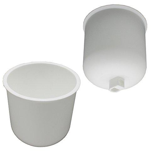 Baldaquino blanco mate plástico con tornillo de bloqueo para cable de lámpara, diámetro 76 mm, altura 82 mm