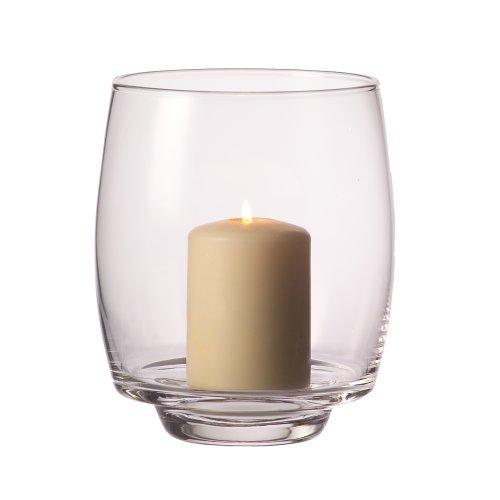 LEONARDO HOME Twilight Windlicht, Höhe 20 cm, Durchmesser 20 cm, handgefertigtes Klarglas, 030678