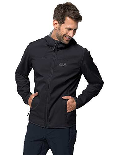 Jack Wolfskin Northern Point Herren Softshell Jacke, schwarz, L