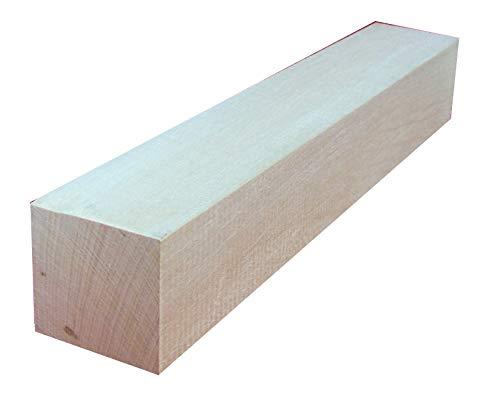 Kantel Lindenholz unbehandelt zum Schnitzen oder drechseln 4,7x4,7x30 cm