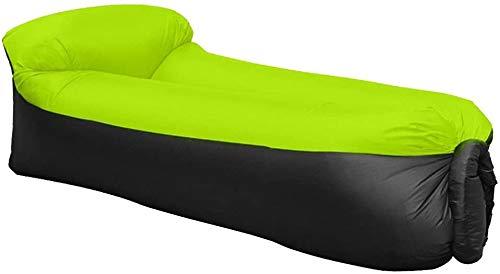 WAITIEE Wasserdichtes aufblasbares Sofa mit integriertem Kissen, Aufblasbare Liege, tragbar Air Betten Schlafen...