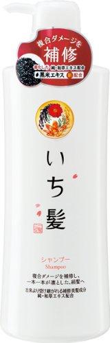 Ichikami Herbal Shampoo with Rice Bran by Kracie Pump Dispenser - 550ml