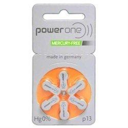 6 Stück Batterie PowerOne Typ p 13 Hörgerätebatterien (für Hörgerät: Oticon)