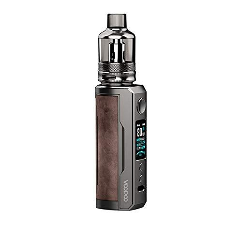 Original VOOPOO DRAG X Plus Pod Kit 5.5ml TPP Pod Cartridge TPP DM1 0.15ohm DM2 0.2ohm 100W Vape Electronic Cigarette Vaporizer (Sandy Brown)